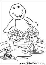 Pintar e Colorir Barney - Desenho 001