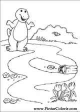 Pintar e Colorir Barney - Desenho 006