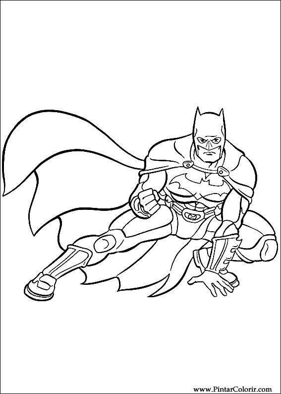 Dibujos para pintar y Color Batman  Diseo de impresin 002