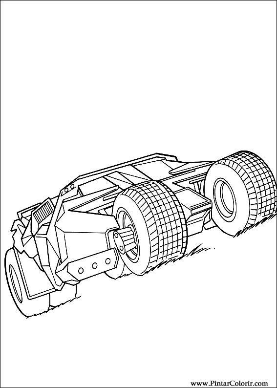 batman vehicles coloring pages - photo#27