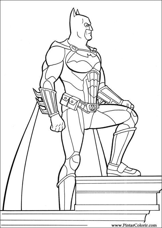 Tekeningen Te Schilderen Amp Kleur Batman Print Design 020