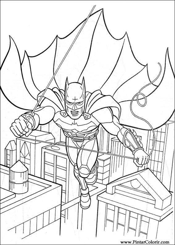 Dibujos para pintar y Color Batman - Diseño de impresión 026