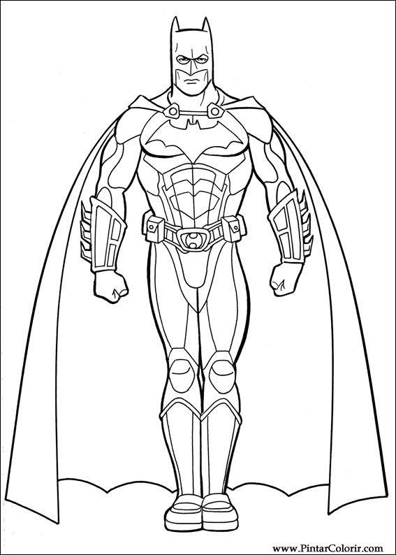 Tekeningen Te Schilderen Amp Kleur Batman Print Design 031