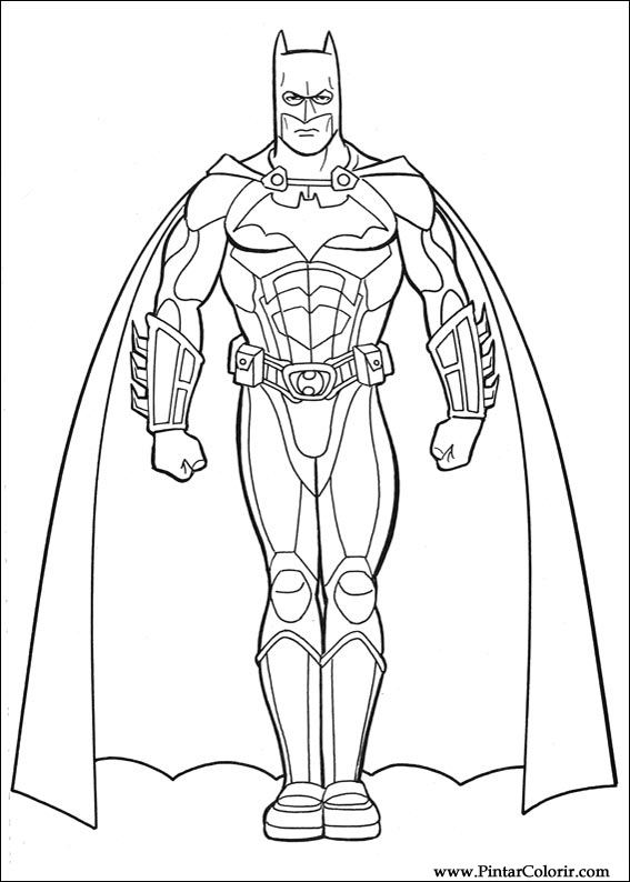 Drawings To Paint amp Colour Batman Print Design 032