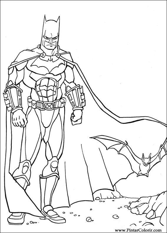 paint colour batman drawing 035 - Batman Pictures To Colour