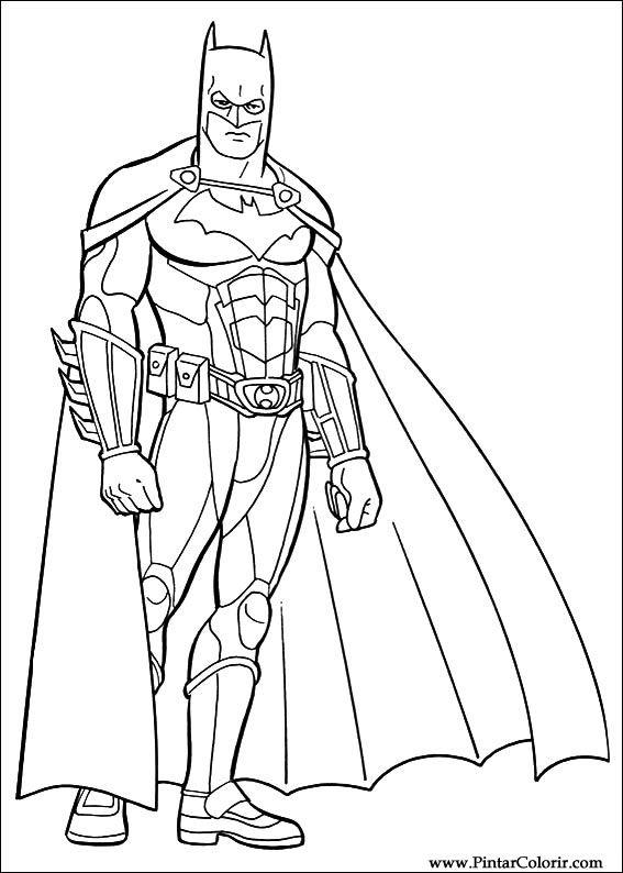Dibujos para pintar y Color Batman  Diseo de impresin 042