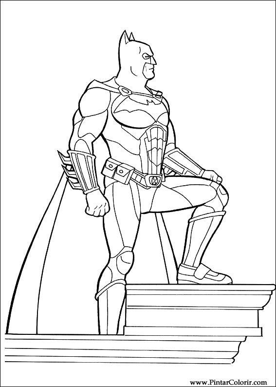 Zeichnungen Zu Malen Und Farbe Batman Print Design 045