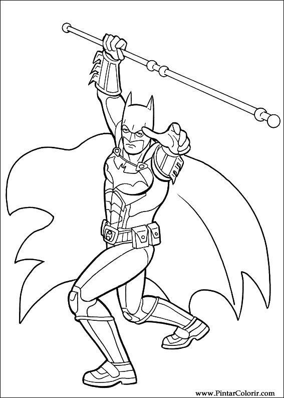 Dibujos para pintar y Color Batman  Diseo de impresin 046