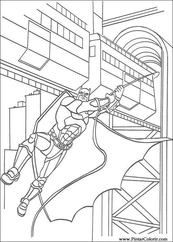 Pintar e Colorir Batman - Desenho 103