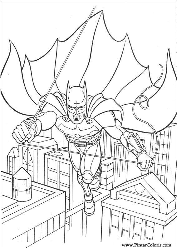 Tekeningen Te Schilderen Amp Kleur Batman Print Design 111