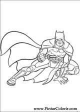 Pintar e Colorir Batman - Desenho 002