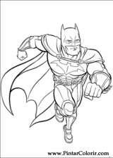 Pintar e Colorir Batman - Desenho 004