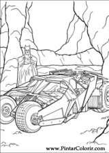Pintar e Colorir Batman - Desenho 008