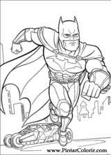 Pintar e Colorir Batman - Desenho 012