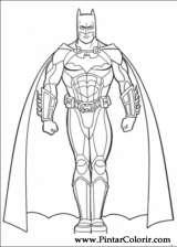 Pintar e Colorir Batman - Desenho 032