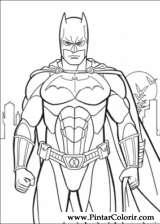 Pintar e Colorir Batman - Desenho 033