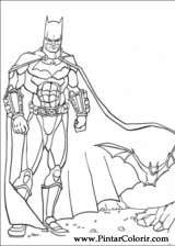 Pintar e Colorir Batman - Desenho 035