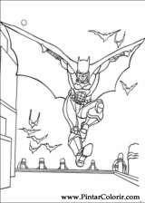 Pintar e Colorir Batman - Desenho 041