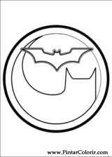 Pintar e Colorir Batman - Desenho 043