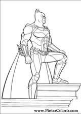 Pintar e Colorir Batman - Desenho 045