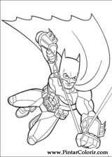Pintar e Colorir Batman - Desenho 049