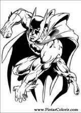 Pintar e Colorir Batman - Desenho 052