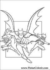Pintar e Colorir Batman - Desenho 069
