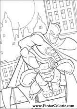 Pintar e Colorir Batman - Desenho 074