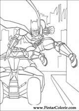 Pintar e Colorir Batman - Desenho 104