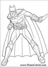 Pintar e Colorir Batman - Desenho 109