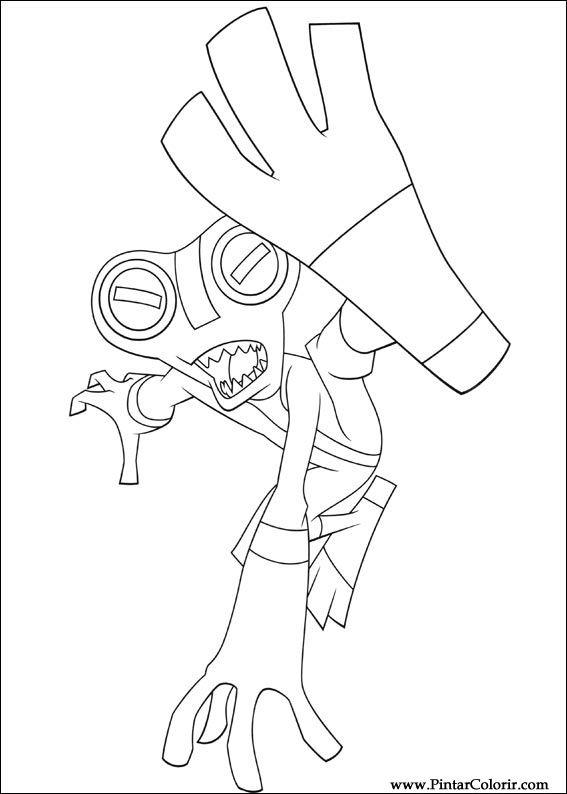 Drawings To Paint  Colour Ben 10  Print Design 010