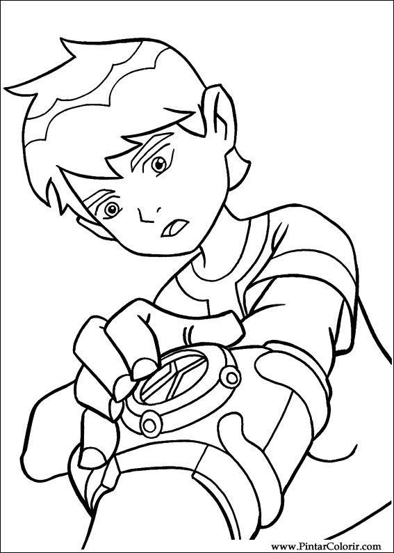 Drawings To Paint  Colour Ben 10  Print Design 059