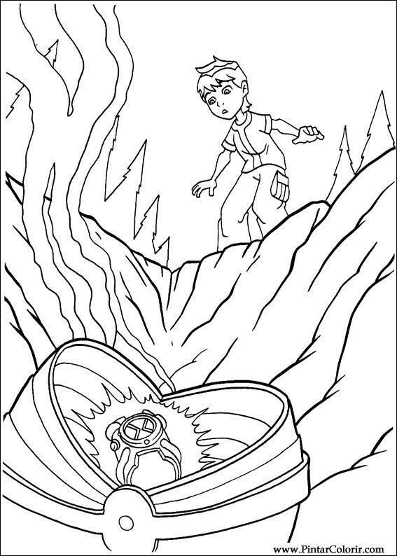 Drawings To Paint  Colour Ben 10  Print Design 070