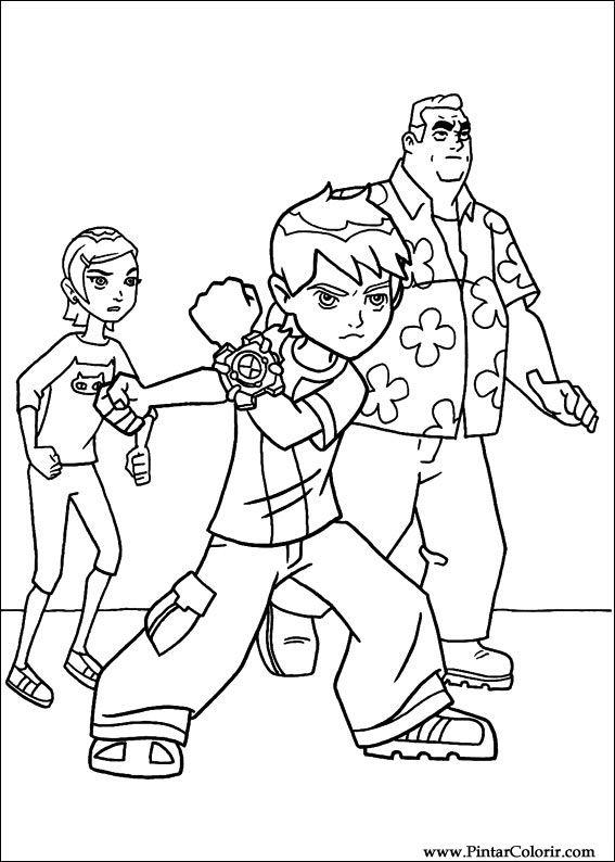 Desenhos Para Pintar e Colorir Ben 10 - Imprimir Desenho 071
