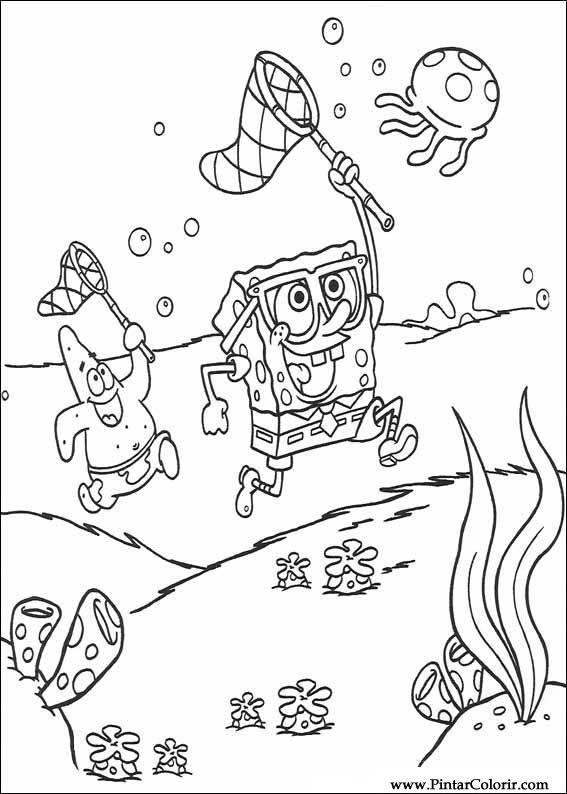 Desenhos Para Pintar e Colorir Bob Esponja - Imprimir ...