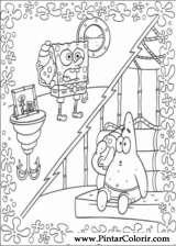 Pintar e Colorir Bob Esponja - Desenho 006