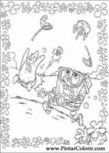 Pintar e Colorir Bob Esponja - Desenho 007