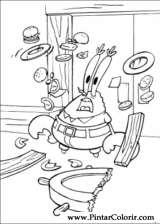 Pintar e Colorir Bob Esponja - Desenho 073