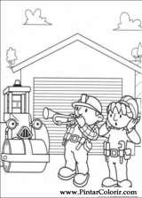 Pintar e Colorir Bob O Construtor - Desenho 001