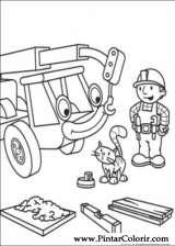 Pintar e Colorir Bob O Construtor - Desenho 003