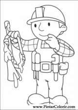 Pintar e Colorir Bob O Construtor - Desenho 005
