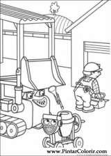 Pintar e Colorir Bob O Construtor - Desenho 006