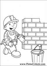 Pintar e Colorir Bob O Construtor - Desenho 008