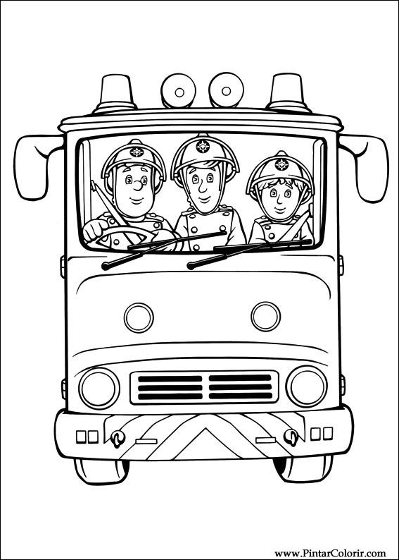 paint colour fireman sam drawing 024 - Fireman Sam Pictures To Print