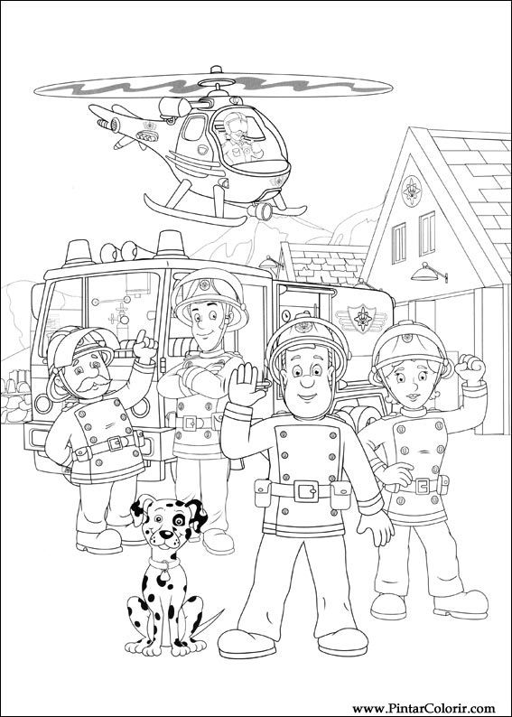 paint colour fireman sam drawing 031 - Fireman Sam Pictures To Print