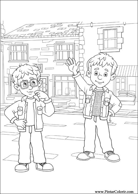 coloring book pages fireman - photo#31