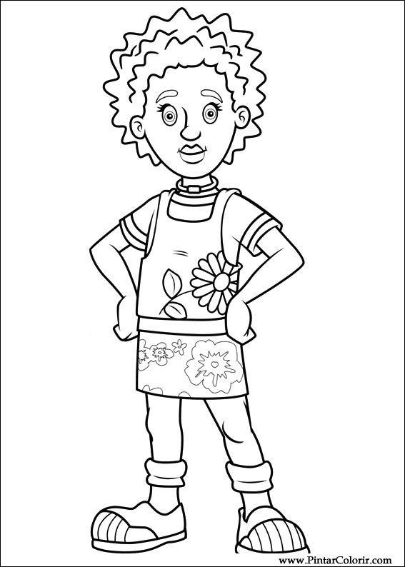 Zeichnungen zu malen und Farbe Feuerwehrmann Sam - Print Design 065