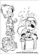 Pintar e Colorir Boule E Bill - Desenho 010