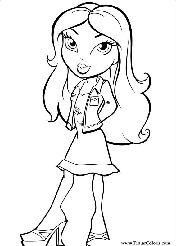 bratz rock star coloring pages Rock Star Coloring Pages