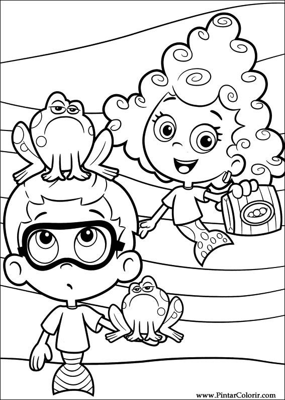 Drawings To Paint Amp Colour Bubble Guppies
